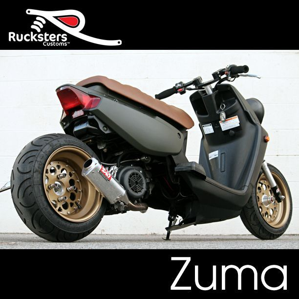 Our Yamaha Zuma 125 is equipped with DROWsports Carbon Fiber ...