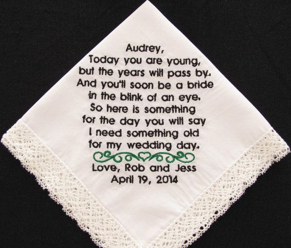 Embroidered Flower Girl Handkerchief from the by InspiredStitches, $25.00