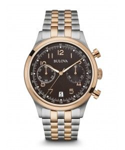 Bulova Two Tone Stainless Steel Chronograph Watch 98B248