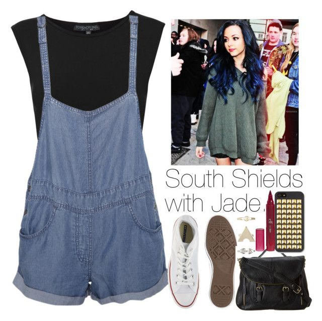 """""""South Shields with Jade"""" by onedirection-outfits1d ❤ liked on Polyvore featuring Topshop, Stussy, Converse, Steve Madden, 1&20 Blackbirds and e.l.f."""