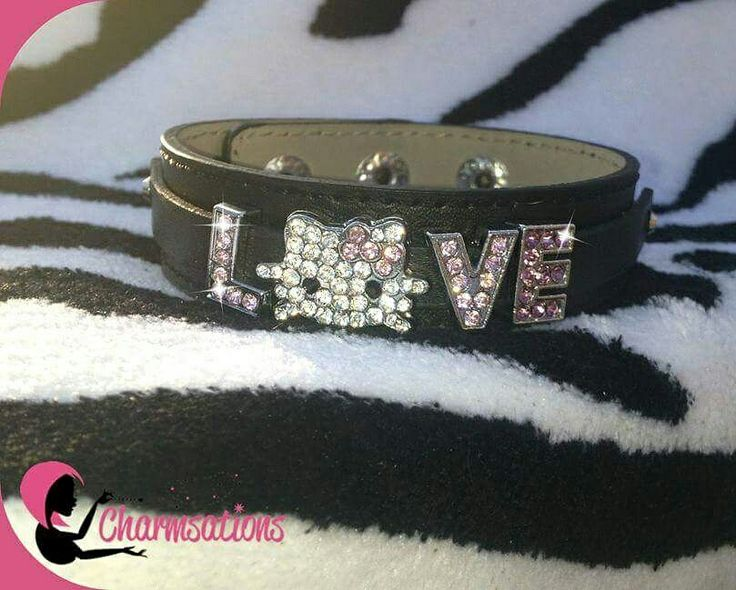 Hello Kitty bracelet $10 or tell a story with your own personalized bracelet! So cute and affordable. Make great gifts! Charmsations.com/#TinaSmith