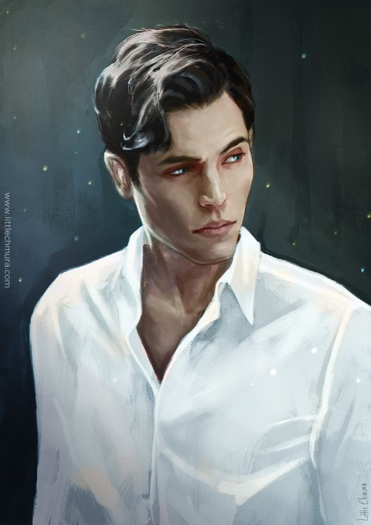 """Tom Riddle commissioned by @drsallysparrow """"His eyes were as blue as the sky in the height of summer, a starburst blue as though a cornflower had opened its petals around each freckle. """""""