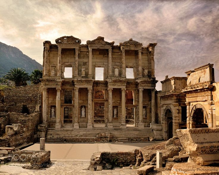 http://500px.com/photo/191992953 The Library of Celsus by ur2bpraised -Here is the Library of Celsus which is an ancient Roman building in Ephesus Turkey.  This library is one of the most beautiful structures in Ephesus ... simply an amazing site!. Tags: historyruinshistoricalmajesticlibraryantiquityLibrary of CelsusArchitectureTurkeyRomanEphesus