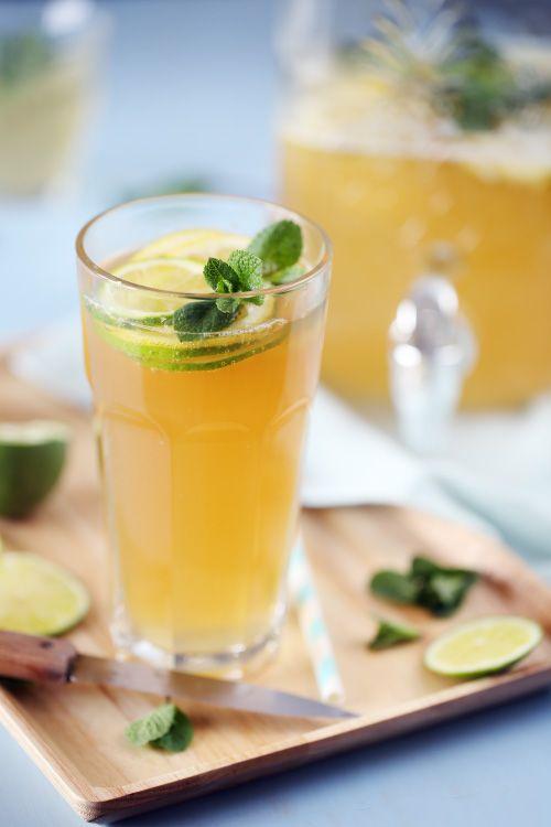 Лимонный пунш (водка+шампанское)