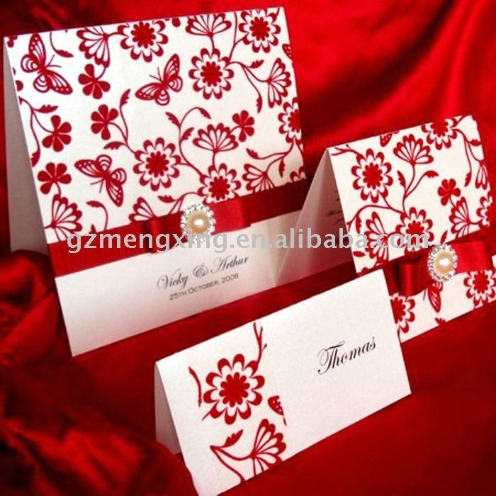 Red And White Classical Wedding Invitation With   Buy Rhinestone Buckle Wedding  Invitations,Classical Wedding Invitation .