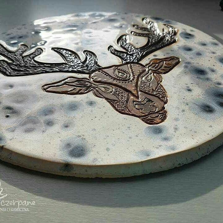 #ceramics #zogniaczerpane #purple #green #mandala#eagle #pottery #ceramiclove #ceramika #artistic #clay #polisdesign #polishhandmade #polishbrand #modernhouse #recznierobione #rekodzielo #colorful  #pasja #creative # love #decor  Mandala Deer