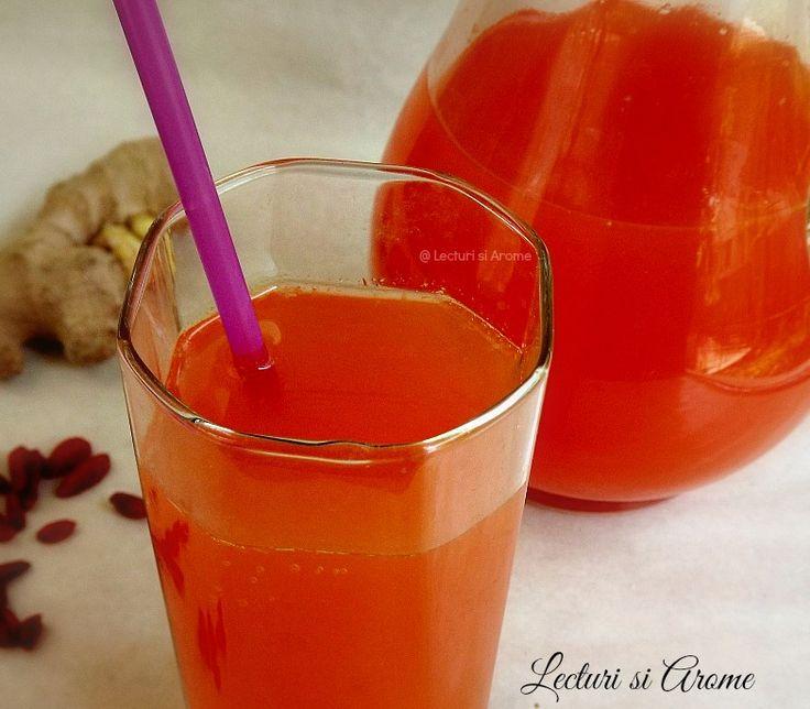 Limonada cu goji si ghimbir/Goji and ginger limonade