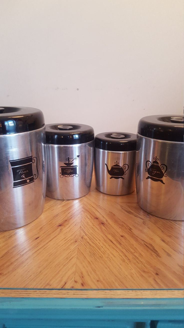 99 best vintage images on pinterest ontario chips and asian art vintage west bend canisters set of 4 aluminum kitchen canisters flour sugar coffee tea canisters farmhouse decor retro kitchen decor