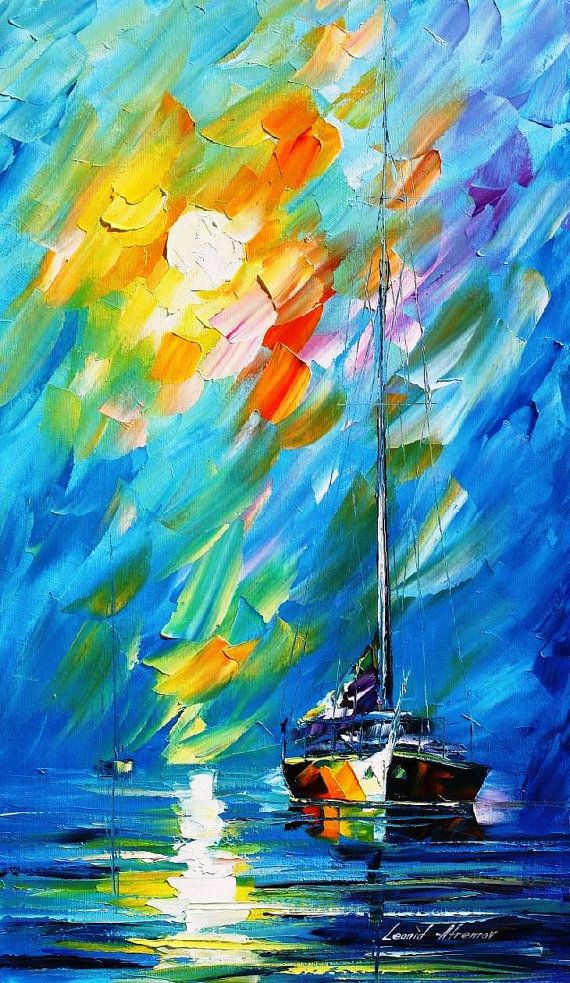Original Recreation Oil Painting on Canvas  This is the best possible quality of recreation made by Leonid Afremov in person    Title: Fog