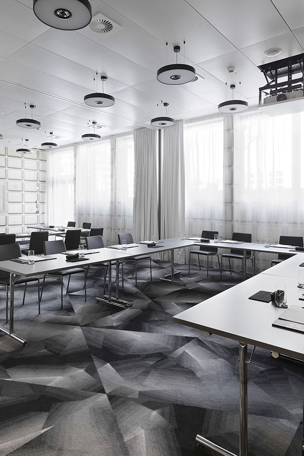 Brintons partnered with global design guru,Marcel Wandersand tecArchitecture to supply unique  carpets for the spectacularKameha Grand Zurichin Switzerland. The hotel's interior is inspired by Swiss culture. Pictured is the conference room. #CarpetDesign #Inspiration #InteriorInspiration #Interiors #CustomCarpet #CommercialCarpet #CarpetIdeas #HotelCarpet #Hotel #Switzerland