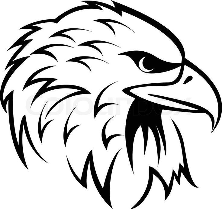Illustration Of Eagle Head tattoo | Vector | Colourbox