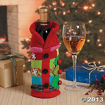"""Ugly Christmas Sweater Bottle BagNEED IDEAS FOR A FUN UGLY CHRISTMAS SWEATER PARTY check out """"THE HOW TO PARTY IN UGLY CHRISTMAS SWEATER BOOK"""" at Amazon.com-"""