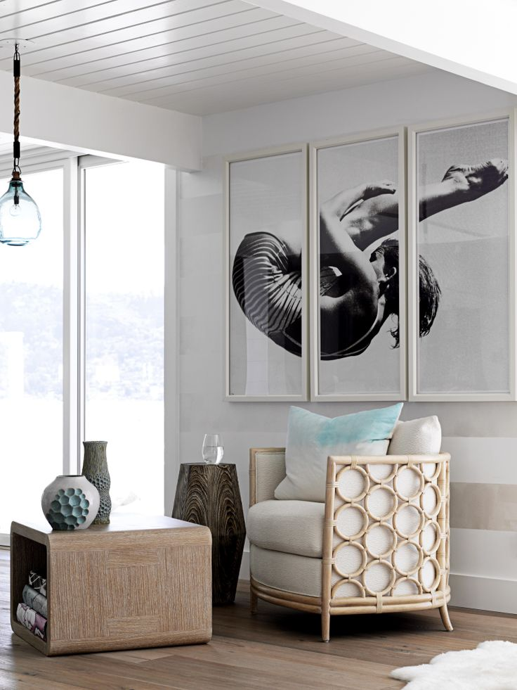 Lovely Barrel Lounge Chair | Laura Kirar | McGuire Furniture