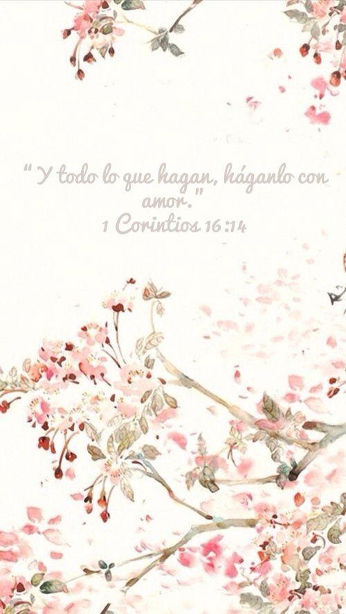 """""""Y todo lo que hagan, háganlo con amor."""" 1 Corintios 16:14 DHH http://bible.com/411/1co.16.14.dhh"""