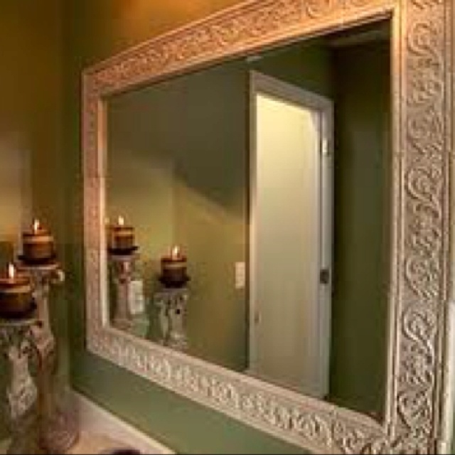 36 Best Framing Bathroom Mirrors Images On Pinterest
