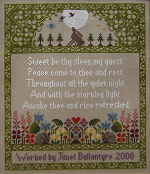 Really like this poem for the guest room! MORIA BLACKBURN SAMPLER