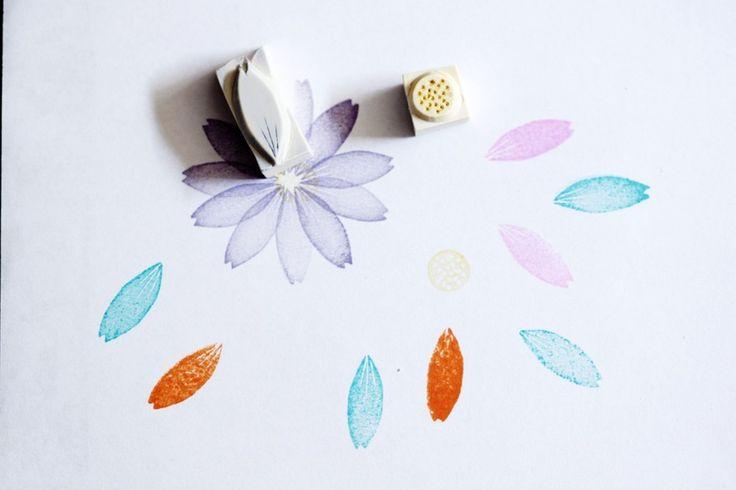 Gänseblümchen Set , Stempel, handgeschnitzt von Aure & En auf DaWanda.com