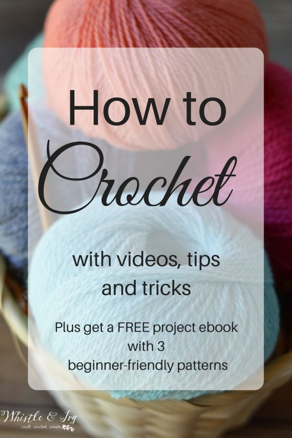 Ready to learn how to crochet? Get free resources, videos and tips! This article will help you learn skills to read patterns and work basic stitches!