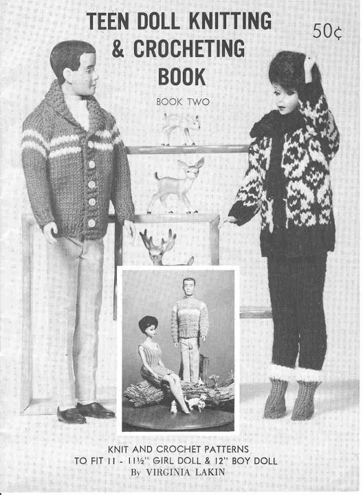 Free Copy of Pattern - Teen Doll Knitting & Crocheting Book | Barbie ...