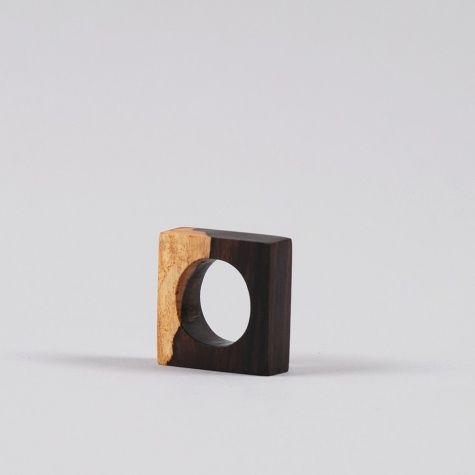 Nyumbani Design Pembenne Ring - 2 Colour African Black Wood Goodhood store