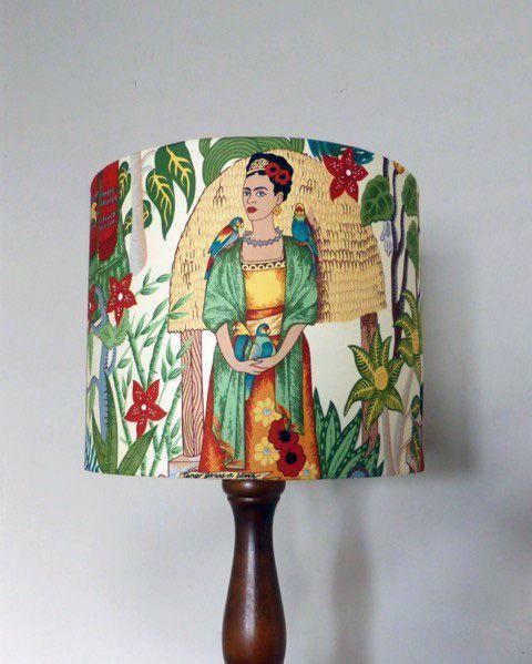Frida Kahlo Tea Shade 30d x 25h Melanie Hudson Mesmerizing Blue