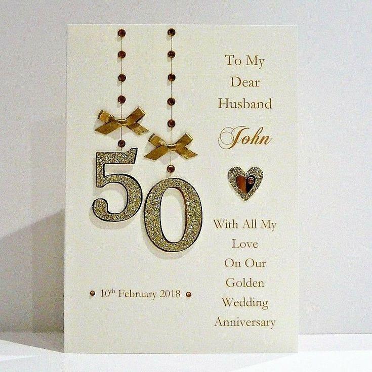 50th golden wedding anniversary card wifehusbandmum dad