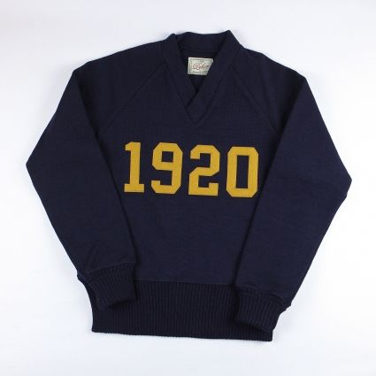 Dehen 1920 Signature V-Neck (Navy/Old Gold)
