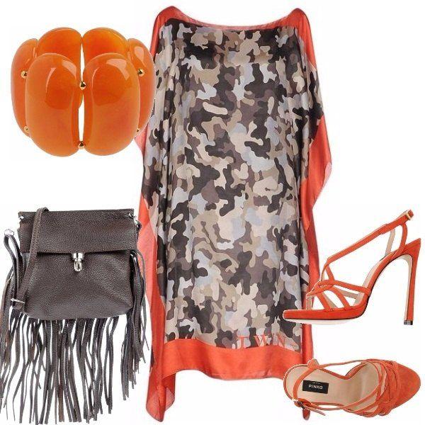 Grintosa eleganza per questo outfit da cerimonia, se non siete madre, sorella, testimone o damigella d'onore della sposa, ma l'amica pazza e divertente, abbaglierete la festa con questo outfit, contornano di arancio vitaminico!