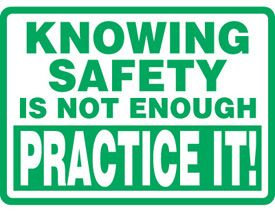 Make your own and everyone's safety a daily habit. Always. #SafetyFirst