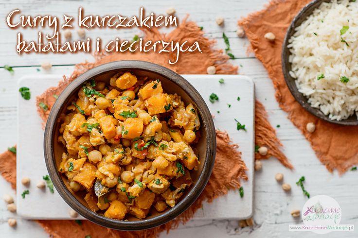 Curry z kurczakiem, batatami i ciecierzycą | Bezglutenowe Kuchenne Wariacje