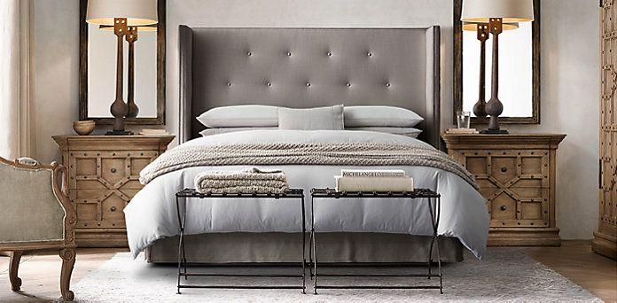 Best Morrison Tufted Shelter Bed Collection Restoration 400 x 300
