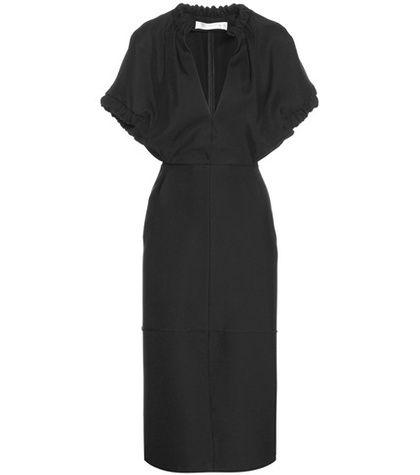 ¡Cómpralo ya!. Ruched Cape Sleeve Shift Dress. Ruched Cape Sleeve Shift Black Dress By Victoria Beckham , vestidoinformal, casual, informales, informal, day, kleidcasual, vestidoinformal, robeinformelle, vestitoinformale, día. Vestido informal  de mujer color negro de VICTORIA BECKHAM.