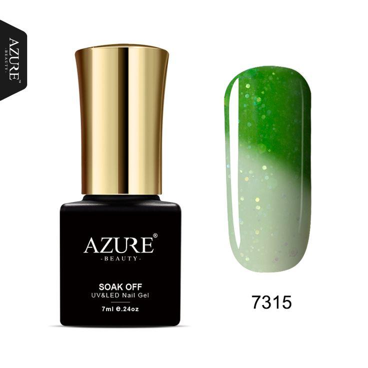 AZURE BEAUTY Green Gel Nail Polish Temperature Change Color Soak Off 7ml 24 Colors Cheap Price Gel Varnish Nail Glue
