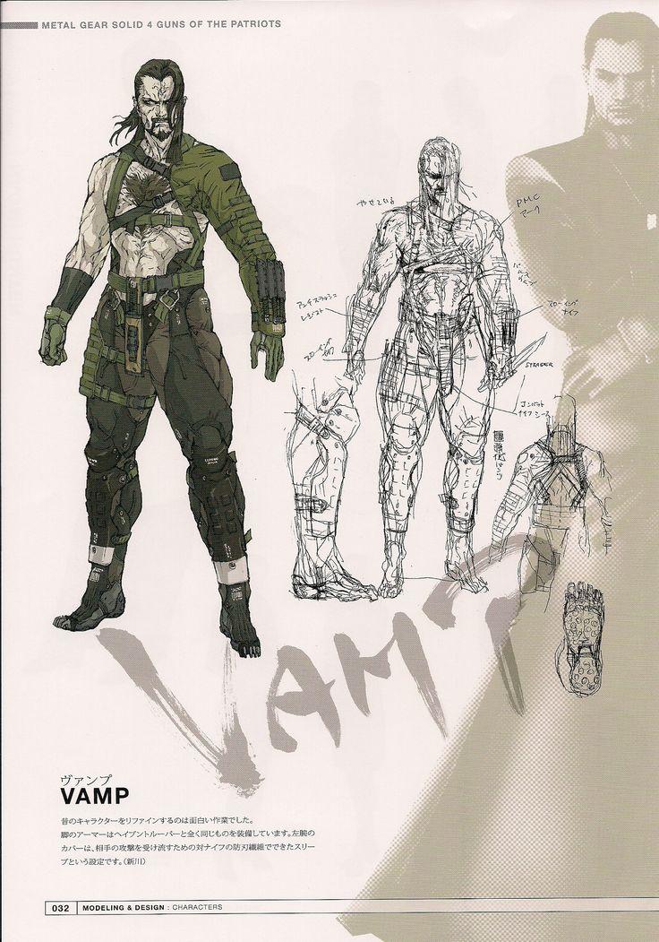 Vamp from metal gear solid 4 by yoji shinkawa metal gear for Metal concept