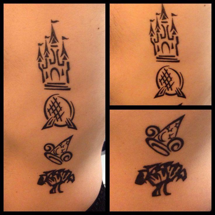 Walt disney world park logos tattoo magic kingdom epcot for Disney world tattoos