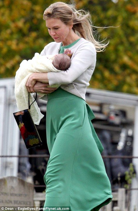 Renee Zellweger and Colin Firth film Bridget Jones' Baby Christening scene in tears | Daily Mail Online