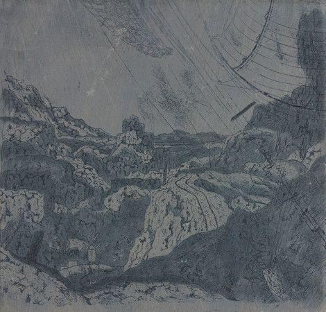 Hercules Segers, Landschaft (mit der Schiffstakelage), undatiert, Zeichnung, Wallraf-Richartz-Museum & Fondation Corboud
