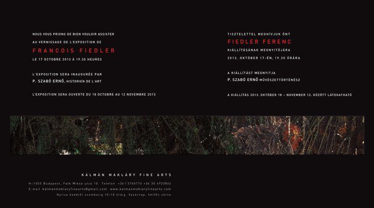 Francois Fiedler exhibition, october 2013