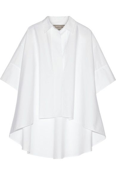 White cotton-poplin Slips on 100% cotton Dry clean Made in Italy As seen in THE EDIT magazine