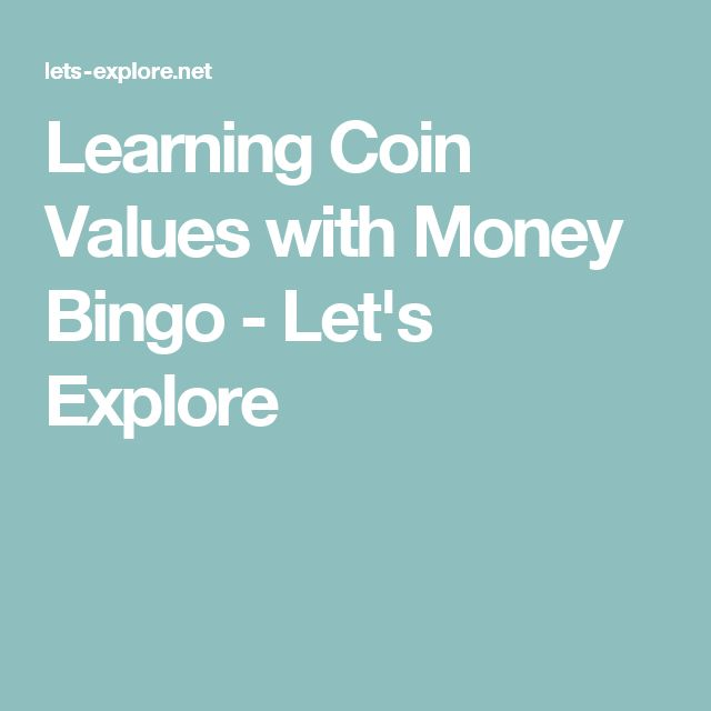 Learning Coin Values with Money Bingo - Let's Explore