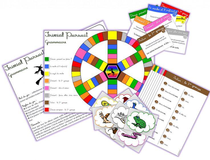 [ jeu à imprimer ] Trivial Pursuit Grammaire-Conjugaison - Cycle 2