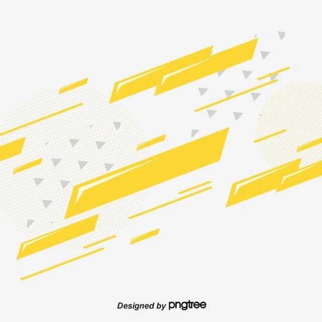 Yellow Geometric Block Velocity Element Geometric Creative Abstract Png And Vector With Transparent Background For Free Download Geometric Background Abstract Lines Business Card Psd