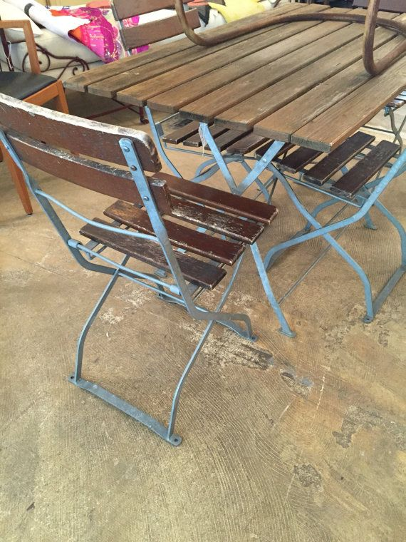Vintage Bistro Chairs And Table Set 695 00 Home For Pinterest Settings