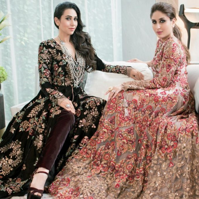 Bold in Black and Red, Lola and Bebo look absolutely Royal and Stunning in these Manish Malhotra's embellishments.