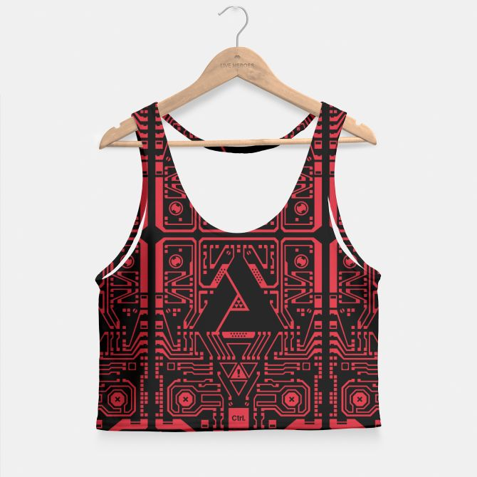 LOGIC RED Crop Top, Live Heroes