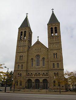 St. Bernard's Church (Akron, Ohio) - my family's church, and where Sophie was baptized. :)