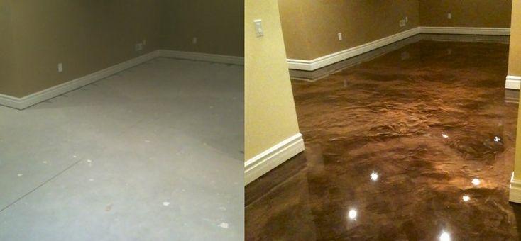 Painted Concrete for basement floor   Decorating Ideas ...