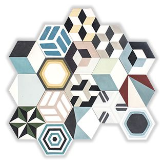 Patchwork hexa casuali
