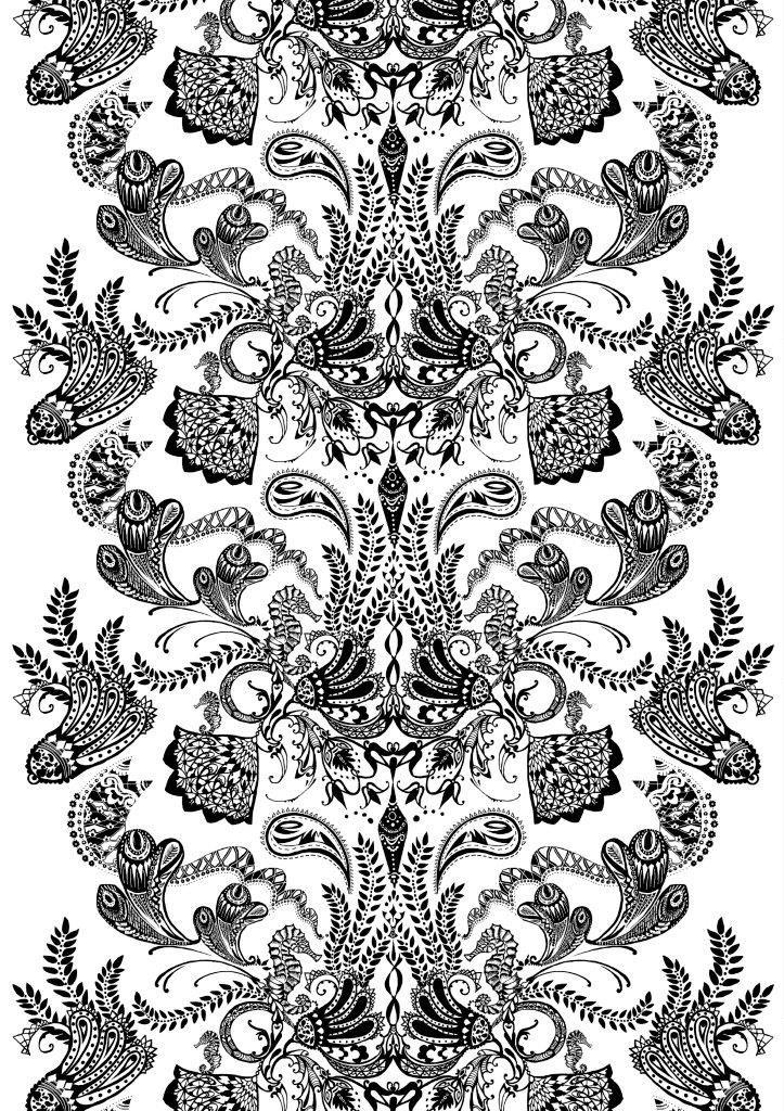 Vallila Interior Syvämeri black white