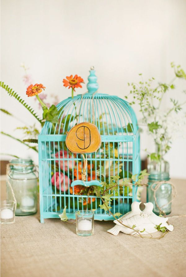 bird cage table setting